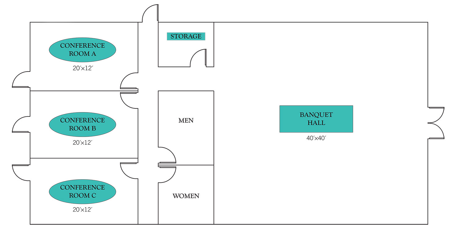 Days Inn & Suites by Wyndham Lake Okeechobee Meeting Space Floor Plan