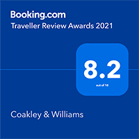 Booking.com Traveller Review Award 2021 for Coakley & Williams